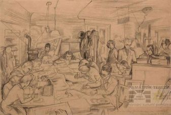 By Leo Haas: Drawing Studio in Theresienstadt