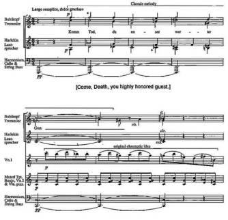 """Page from Ullmann's opera """"Der Kaiser von Atlantis"""""""