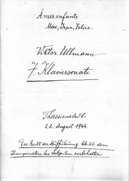 Front cover of Viktor Ullmann's Seventh Sonata