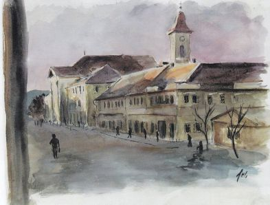 Terezin Square by Ferdinand Bloch