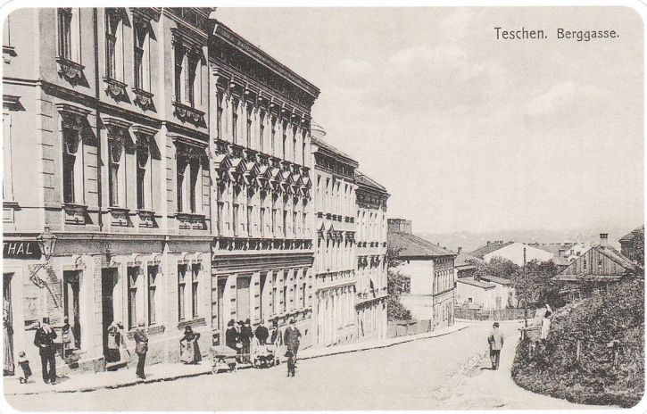 Teschen, Berggasse - Viktor's Birthplace