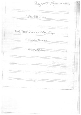 Title page of Variations and Fugue