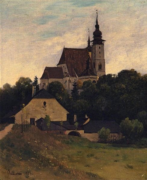 Painting by Antonín Chitussi, oil on canvas 1885...